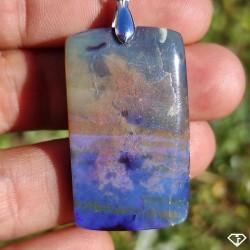 Pendentif Opale Boulder naturelle, Australie - Charlie's Gems