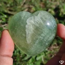 Cœur de Fluorite verte de Madagascar