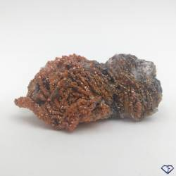 Vanadinite sur Baryte - Pierre de collection du Maroc