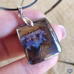 Pendentif d'Opale Boulder - Pierre gemme naturelle polie d'Australie