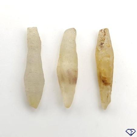Lot de 3 Saphirs bruts du Sri Lanka - Pierres de collection