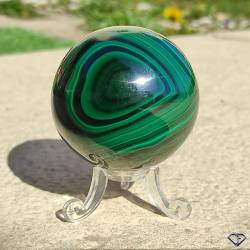 Sphère de Malachite naturelle - Pierre de collection du Congo
