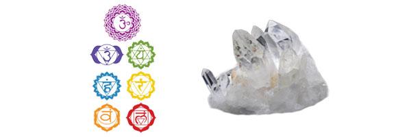 Les 7 Chakras - Cristal de roche