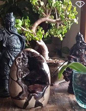 Oeuf de Septaria 'sauvage' aussi surnommé 'pierre du Dragon'