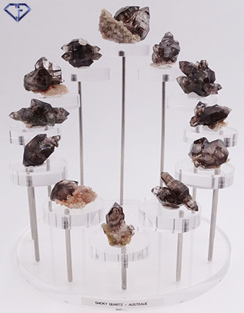 Smoky Quartz multi-pointes bruts d'Australie