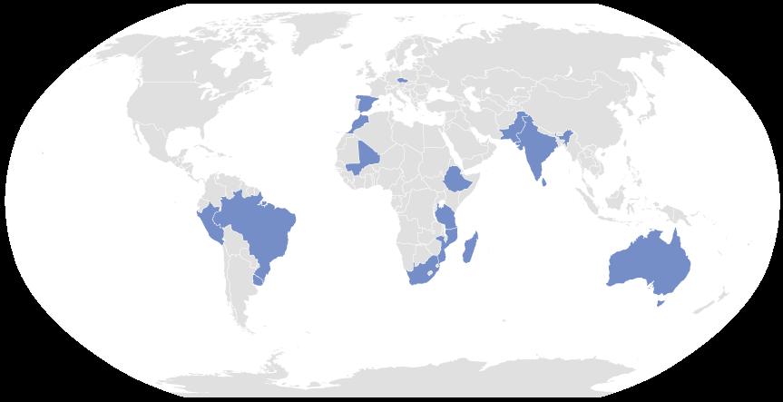 Carte du monde - Les pierres de Charlie